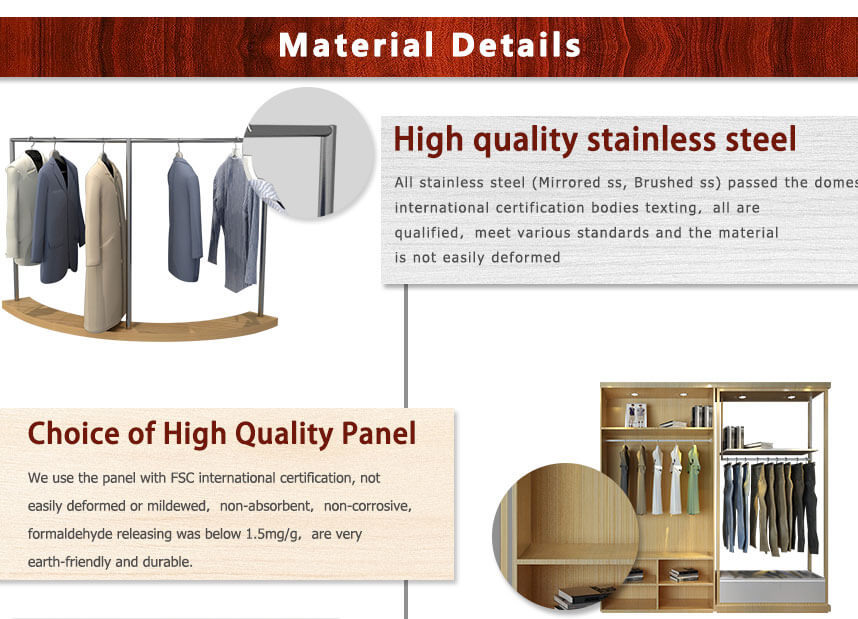 clothing display racks wooden metal materials