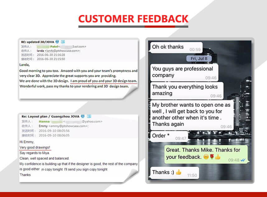 jewellery counters customer feedback