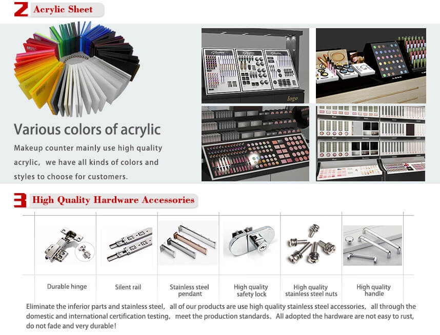 retail makeup counters acrylic