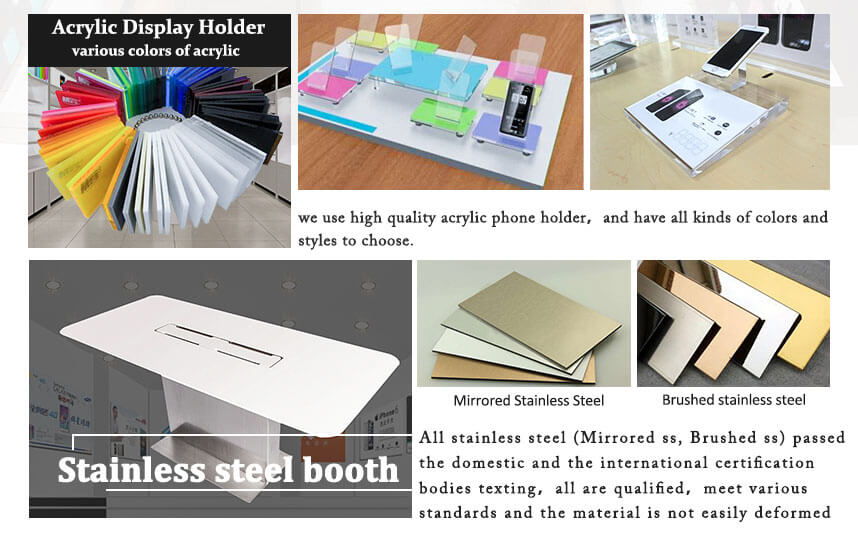 display stand metal acrylic