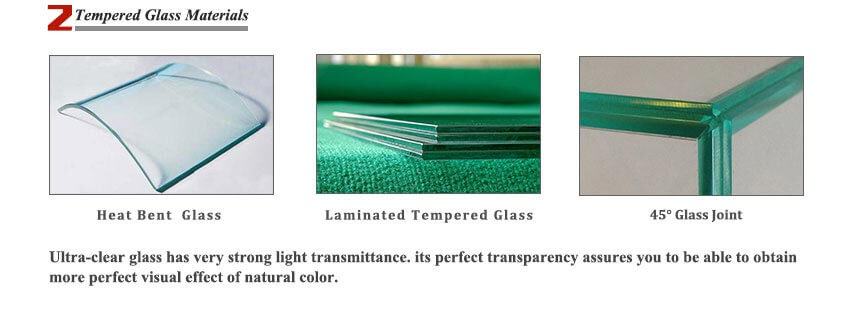 jewelry showcases tempered glass