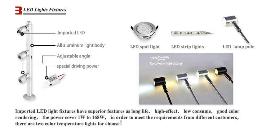 led light for jewelry displays