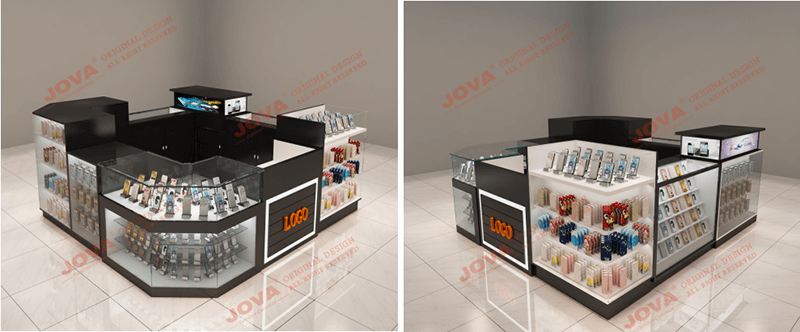 3 x 3 cell phone accessories kiosk