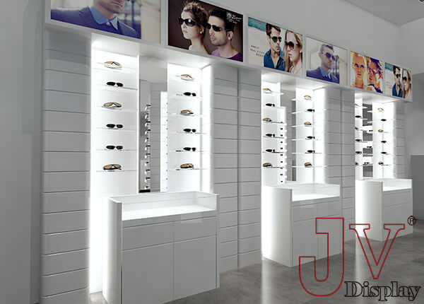 optical wall displays for store