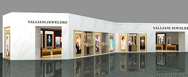 mall VALLIANI jewelry shop design