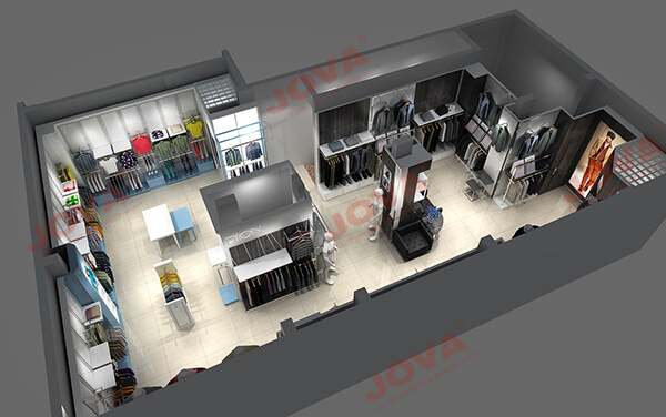 Dion clothing store design