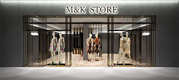 M&K clothing store equipment and displays