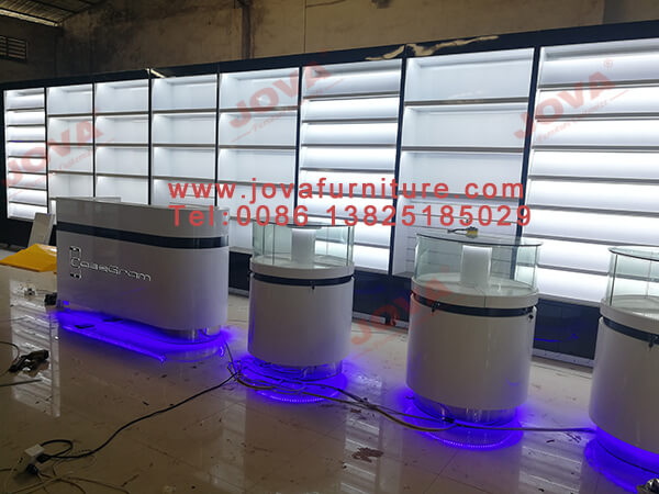 mobile phone shop counter display manufacturer