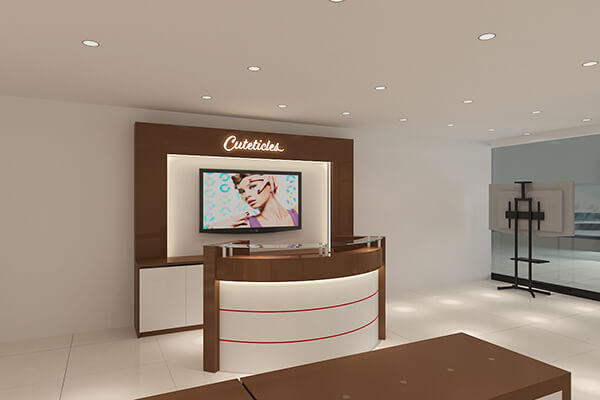 nail salon reception desk