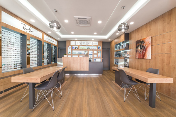 optical showroom interior