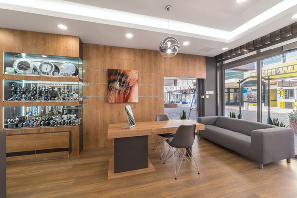 interior design for optical showroom