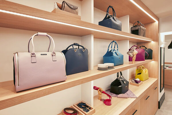 handbag wall display