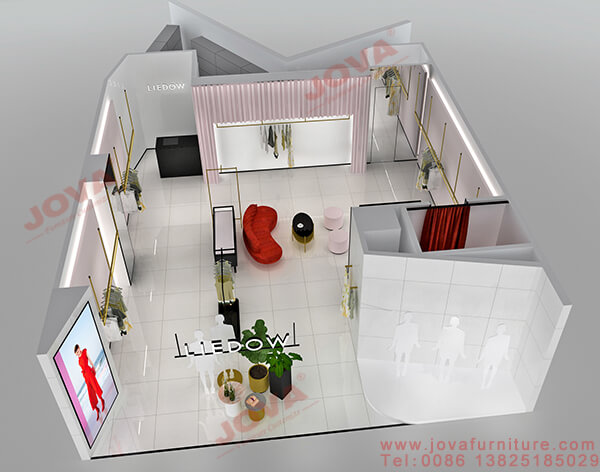 clothing store design layout
