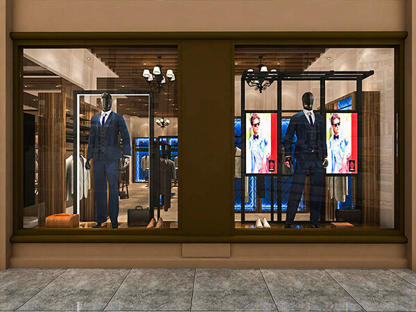menswear window displays