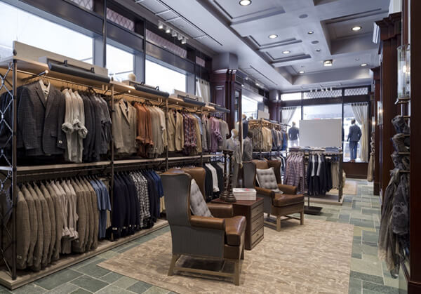 suit shop interior design