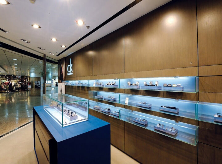 watch store interior design