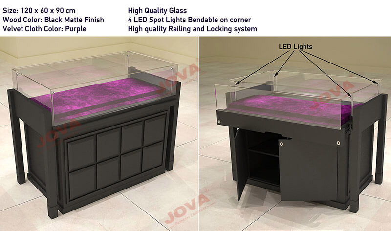 glass jewellery counters