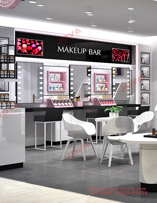display units for makeup store