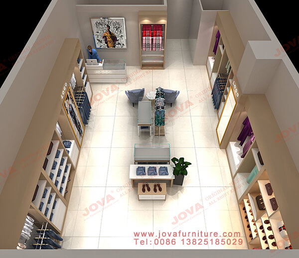 clothes shop interior design layout