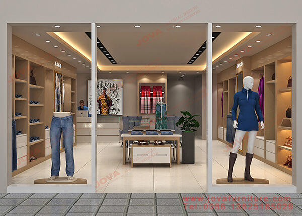 3d clothes shop design