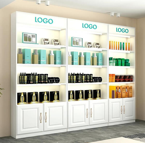cosmetic wall display cabinets