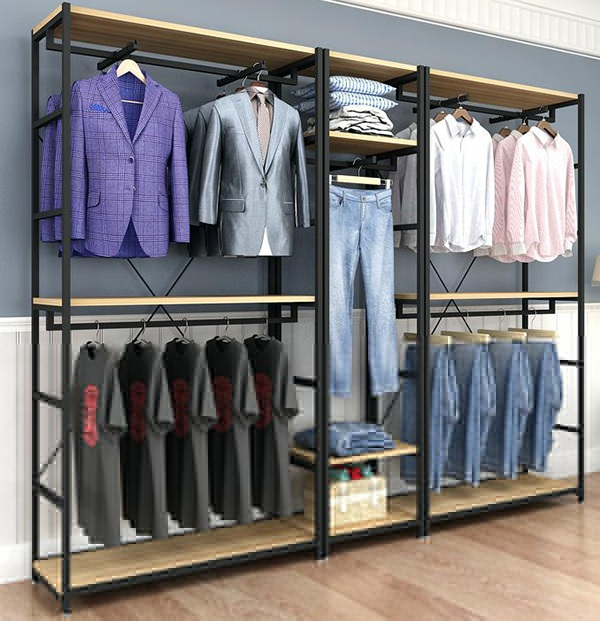 wall clothes display racks