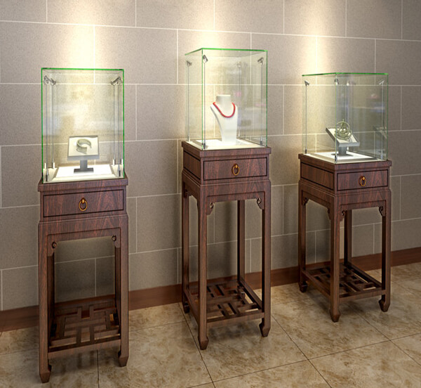 jewelry display case pedestal