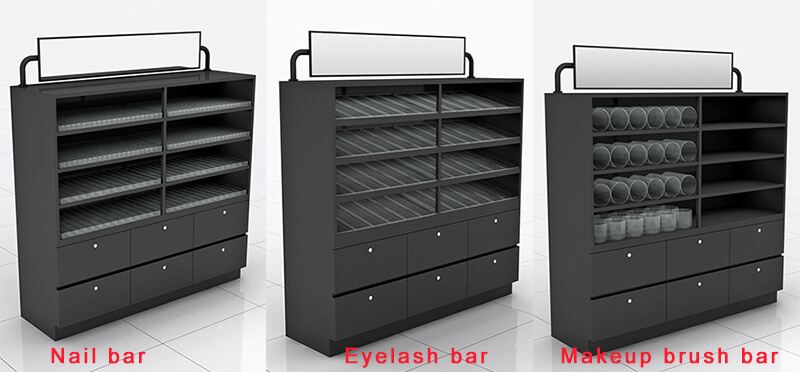 eyelash display stand, makeup wall cabinets