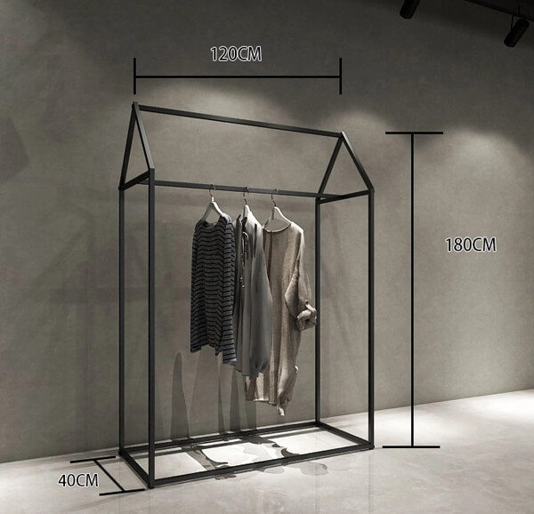 steel rack for garment shop