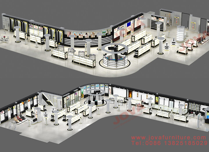 large cosmetic shop layout