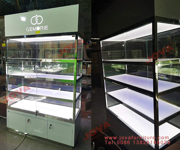 retail jewelry display cabinets with glass door