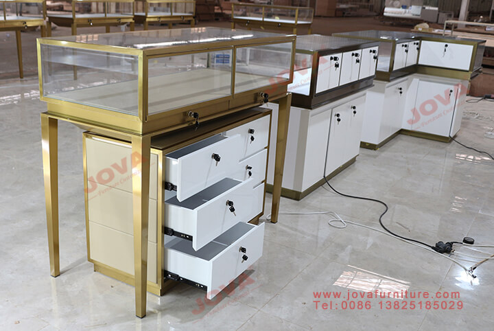 jewellery display cabinets with drawers
