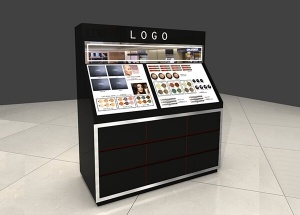 wooden cosmetic counter