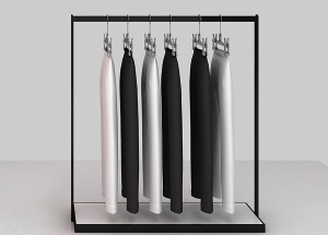metal clothing display racks