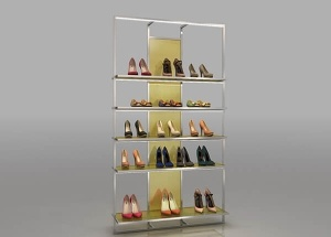 shoe store shelves