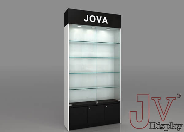 wall display cabinet with glass doors