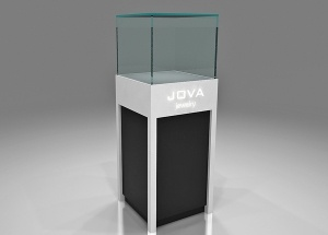 jewelry pedestal display cases