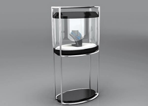 round display case pedestal