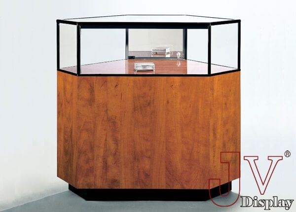 wooden jewelry display cases