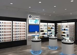 cell phone shop design