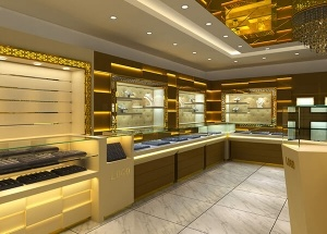 jewellery showroom display designs