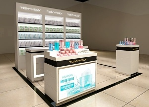 department store cosmetic display