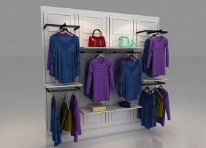 wall mounted clothing rack for retail