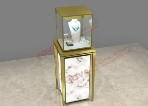 jewellery display case pedestal