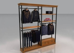 retail clothes wall display