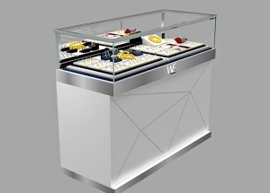 glass jewellery display cabinet