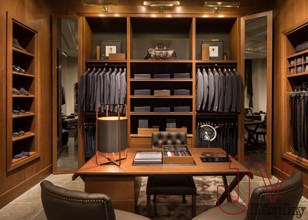 menswear showroom display