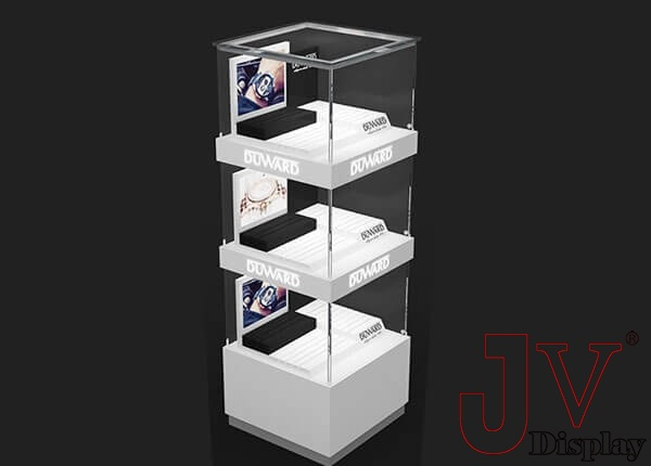 multilevel jewelry tower showcase