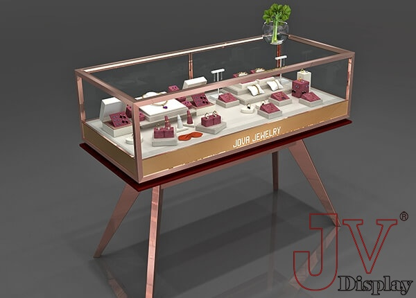 rose gold jewelry display
