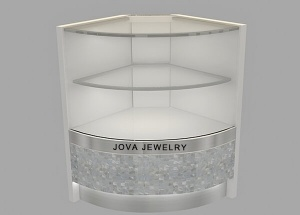 corner jewellery showcase